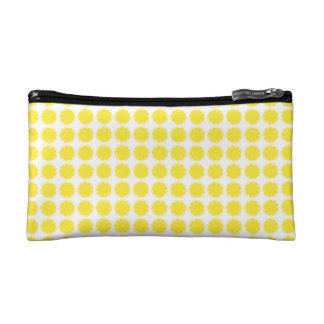 Bright Yellow Lemon Citrus Fruit Slice Design Cosmetic Bag