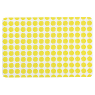 Bright Yellow Lemon Citrus Fruit Slice Design Floor Mat