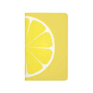 Bright Yellow Lemon Citrus Fruit Slice Design Journals