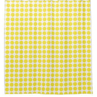 Bright Yellow Lemon Citrus Fruit Slice Design Shower Curtain