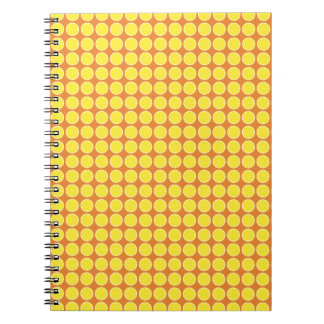 Bright Yellow Lemon Citrus Fruit Slice Design Spiral Notebook