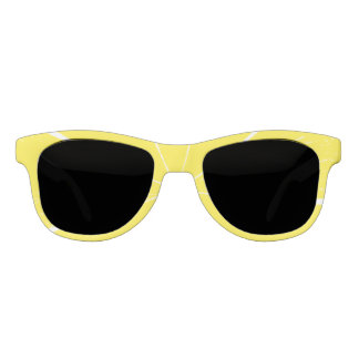 Bright Yellow Lemon Citrus Fruit Slice Design Sunglasses