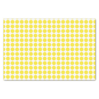 Bright Yellow Lemon Citrus Fruit Slice Design Tissue Paper