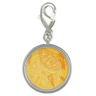 Bright yellow lemons drawn summer pattern