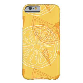 Bright yellow lemons drawn summer pattern barely there iPhone 6 case