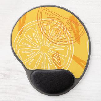 Bright yellow lemons drawn summer pattern gel mouse pad