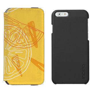 Bright yellow lemons drawn summer pattern incipio watson™ iPhone 6 wallet case