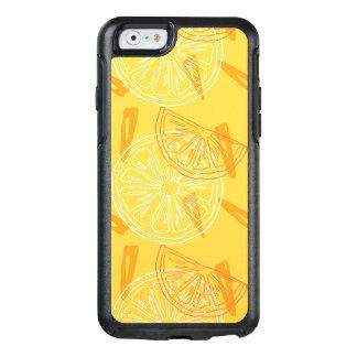 Bright yellow lemons drawn summer pattern OtterBox iPhone 6/6s case