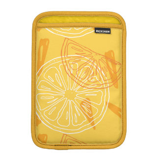Bright yellow lemons drawn summer pattern sleeve for iPad mini