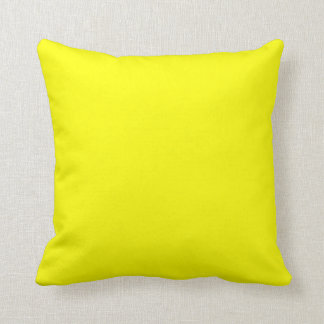 bright yellow  pillow