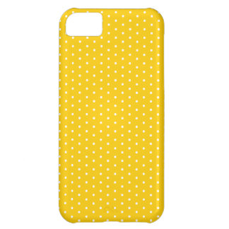 Bright Yellow Polka Dot iPhone iPhone 5C Cases