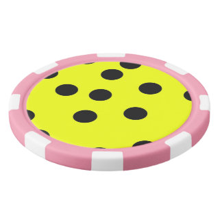 Bright Yellow Polka Dots Poker Chips