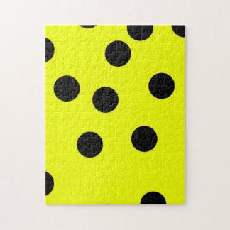 Bright Yellow Polka Dots Puzzles