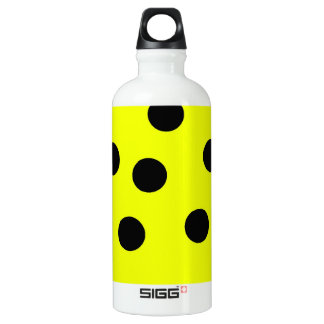 Bright Yellow Polka Dots Water Bottle