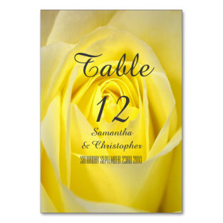 Bright yellow rose flower floral wedding card