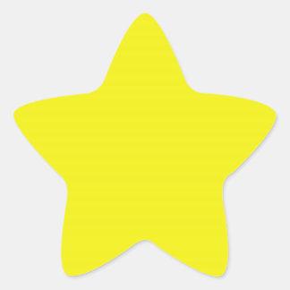 Bright Yellow Star Sticker