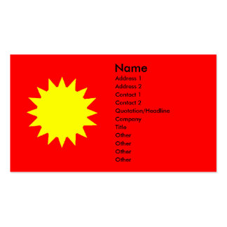Bright Yellow Sun on Red Tanning Salon Pack Of Standard Business Cards