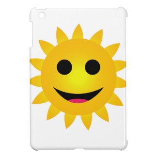 Bright yellow sun smiling iPad mini case
