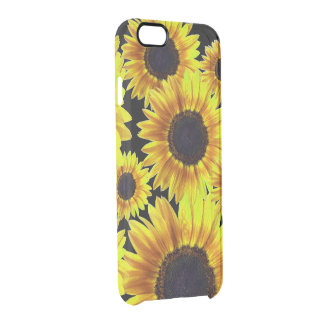 Bright Yellow Sunflower Clear iPhone 6/6S Case