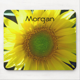Bright Yellow Sunflower Mouse Pad