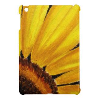 Bright Yellow Sunflower - Oil pastel print iPad Mini Case