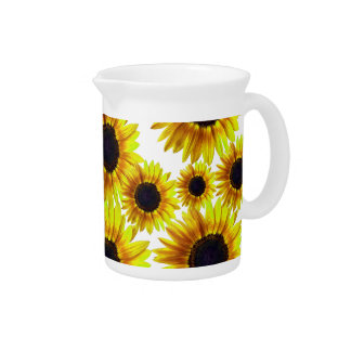Bright Yellow Sunflower Pitcher
