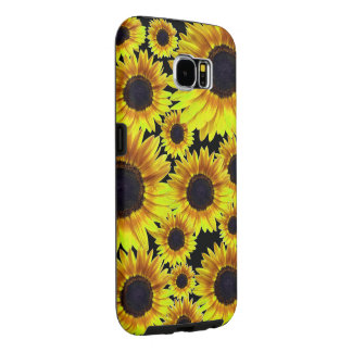 Bright Yellow Sunflower Samsung Galaxy S6 Cases