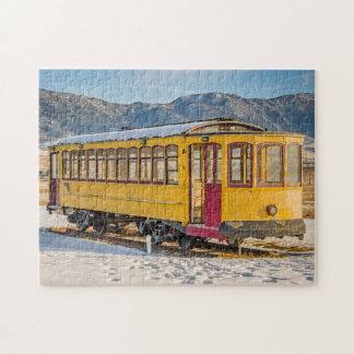 Bright Yellow Trolley Jigsaw Puzzle