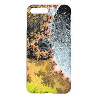 Bright Yellow Universe Galaxy Black Stars Fractal iPhone 7 Plus Case