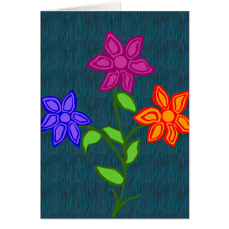 brighten flowers blank note card
