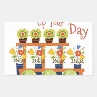 Brighten Your Day Rectangular Sticker