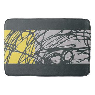 Brighter Nest Abstract Bold Yellow & Gray Bathmat