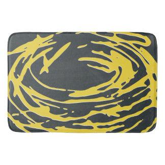 Brighter Nest Abstract Bold Yellow & Gray Bathmat Bath Mats