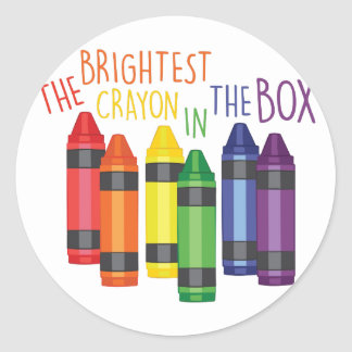 Brightest Crayon Classic Round Sticker