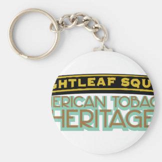 Brightleaf Square Tobacco Basic Round Button Key Ring