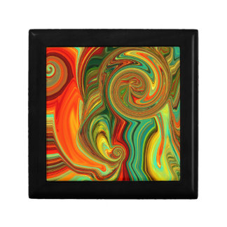 Brightly Bold Abstract Design in Swirls Gift Box