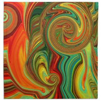 Brightly Bold Abstract Design in Swirls Napkin