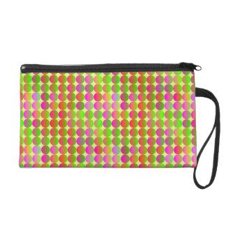 Brightly Colored Dots Wristlet Clutch