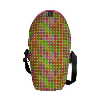 Brightly Colored Dots Courier Bags