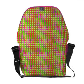 Brightly Colored Dots Courier Bag