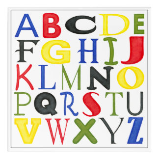 Brightly Colored Letters by Megan Meagher Acrylic Print