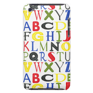 Brightly Colored Letters by Megan Meagher iPod Touch Covers