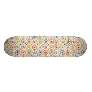 Brightly Colored Medallion Design Skateboard Deck