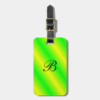 Brightly Colored Monogrammed Luggage Tag