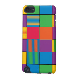 Brightly Colored Squares and Stripes iPod Touch (5th Generation) Cases