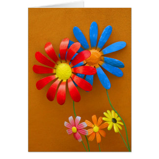 Brightly Colored Sunflower Decoration Card