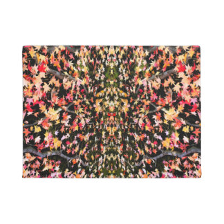 Brightly Colorful Maple Leaf Doormat