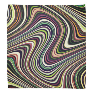 Brightly Colorful Multi-Color Abstract Pattern Bandana
