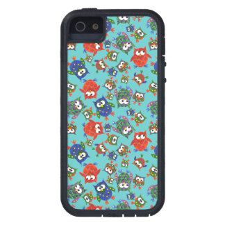 Brightly Coloured Cute Owls on Turquoise iPhone 5 Case