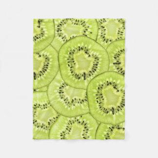 Brightly-Lit Kiwi-Fruit Slices Fleece Blanket
